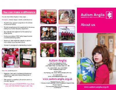 Autism Anglia About Us Information Leaflet