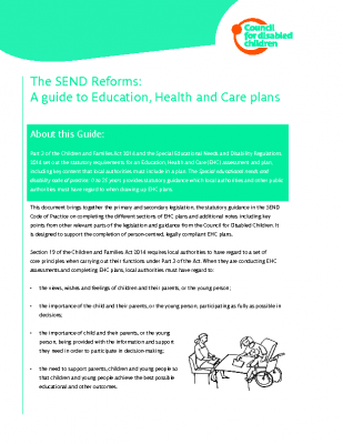 The SEND Reforms: A guide to Education, Health and Care plans