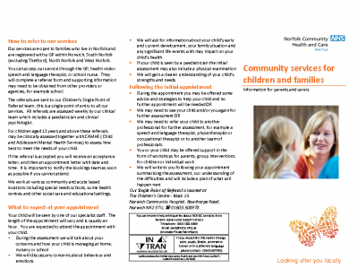 CPS information leaflet for parents and carers